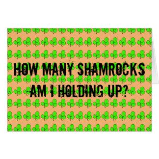 Hur många Shamrocks Hälsningskort