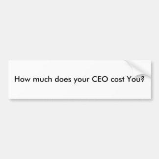 Hur mycket kostar din vd dig? bildekal