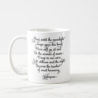 Hur sött månsken, Shakespeare citationstecken Kaffemugg
