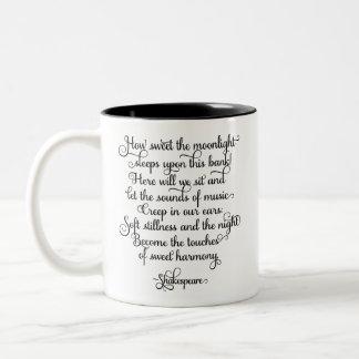 Hur sött månsken, Shakespeare citationstecken Två-Tonad Mugg