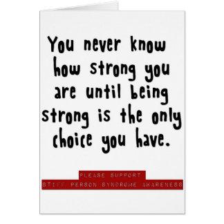 hur starkt du är hälsningskort