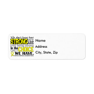 Hur starkt vi är Bifida Spina Returadress Etikett