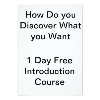 Hur upptäcker du vad du önskar? 12,7 x 17,8 cm inbjudningskort