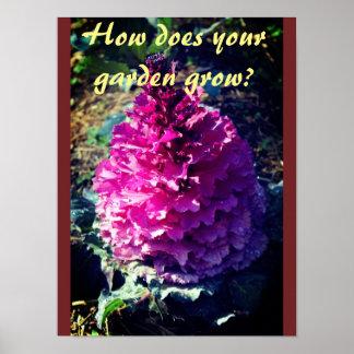 Hur växer din trädgård? poster