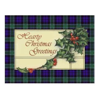 Hurtiga julhälsningar, Graham Tartan Vykort