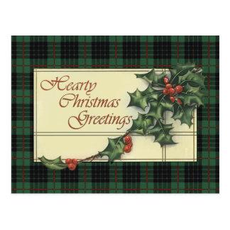 Hurtiga julhälsningar, Gunn Tartan Vykort
