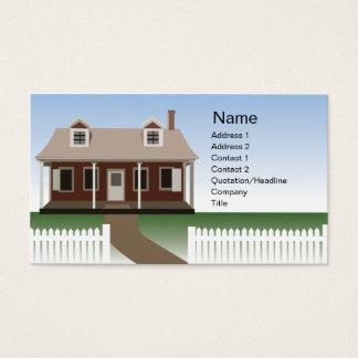 Hus - affär visitkort