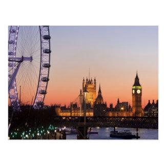 Hus av parlamentet & det London ögat Vykort