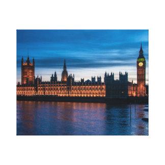 Hus av parlamentet & stora Ben, London, England Canvastryck