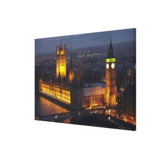 Hus av parlamentet, stora Ben, Westminster Canvastryck
