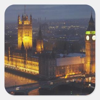 Hus av parlamentet, stora Ben, Westminster Fyrkantigt Klistermärke