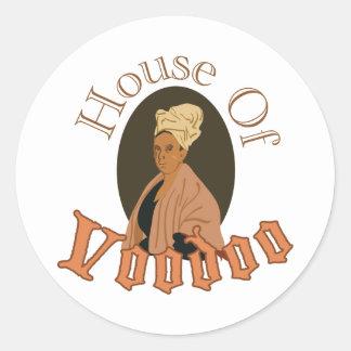 Hus av Voodoo Runt Klistermärke