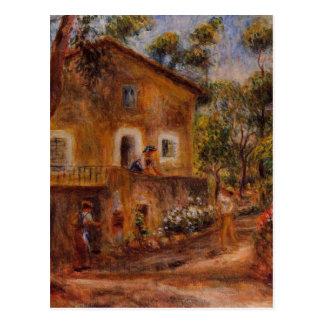 Hus i Collett på Cagnes av Pierre-Auguste Renoi Vykort