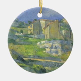 Hus i Provence av Paul Cezanne, vintagekonst Julgransprydnad Keramik
