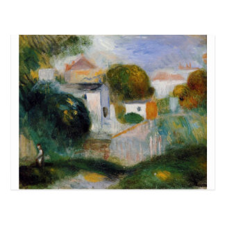 Hus i träden vid Pierre-Auguste Renoir Vykort