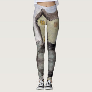 Hus med träd leggings