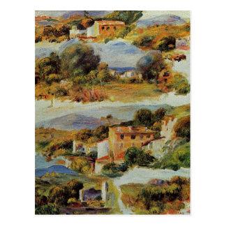 Hus på Cagnes vid Pierre-Auguste Renoir Vykort