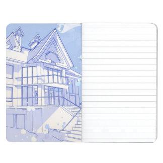 hus: vattenfärgattraktion anteckningsbok