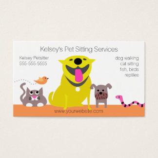 Husdjur - orm för hundkattfågel visitkort