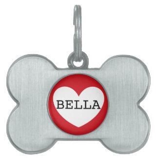 husdjurmärkre för ❤️ BELLA vid DAL Namnbricka Husdjur