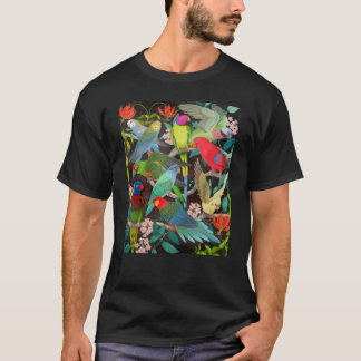 Husdjurpapegojor av världsmörkT-tröja T Shirts