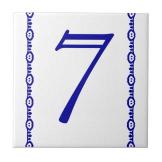 Huset numrerar belägger med tegel kakelplatta