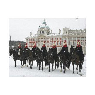 Hushållkavalleri i snön, London kanvastryck
