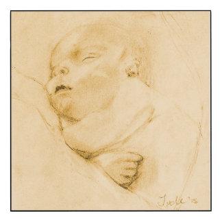 Hushbaby nyfödd bebiskonst (27,9 x 27,9)),