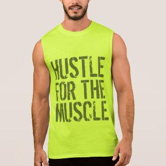 Hustle för den muskelidrottshallen och konditionen sleeveless t-shirt