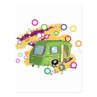 Husvagn som används som permanent hem vykort
