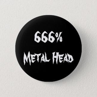 huvud 666%Metal Standard Knapp Rund 5.7 Cm