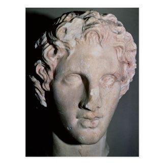 Huvud av Alexander underbaren Vykort