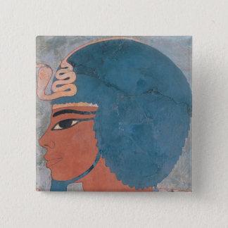 Huvud av Amenophis III från graven av Onsou Standard Kanpp Fyrkantig 5.1 Cm