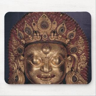 Huvud av Bhairava, sent 17th århundrade Musmatta