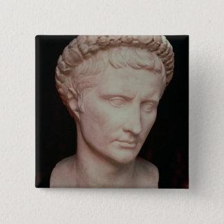 Huvud av Caesar Augustus Standard Kanpp Fyrkantig 5.1 Cm