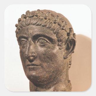 Huvud av Constantine underbaren Fyrkantigt Klistermärke