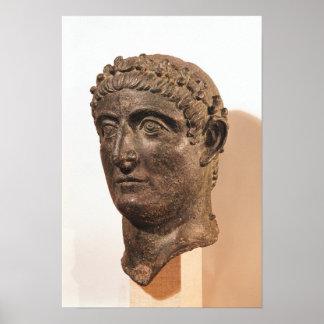 Huvud av Constantine underbaren Poster