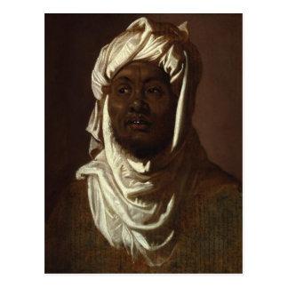 Huvud av en afrikansk man som ha på sig en Turban Vykort