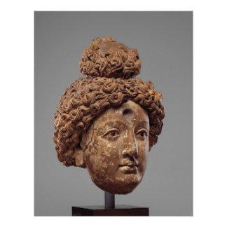 Huvud av en Buddha eller en Bodhisattva Brevhuvud