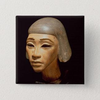 Huvud av en Harpist, från berätta El-Amarna, c.137 Standard Kanpp Fyrkantig 5.1 Cm