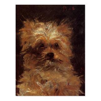 Huvud av en hund av Edouard Manet Vykort