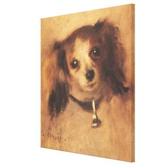 Huvud av en hund av Pierre Renoir, vintagekonst Canvastryck