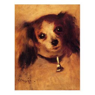 Huvud av en hund vid Pierre-Auguste Renoir Vykort