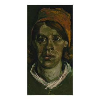 Huvud av en kvinna av Vincent Van Gogh Anpassingsbara Fotokort
