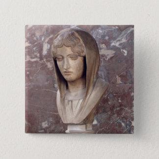 Huvud av en kvinna som är bekant som Aspasia av Standard Kanpp Fyrkantig 5.1 Cm