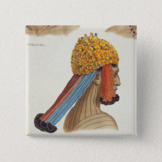 Huvud av en man från den Mundrucu stammen, från 'T Standard Kanpp Fyrkantig 5.1 Cm
