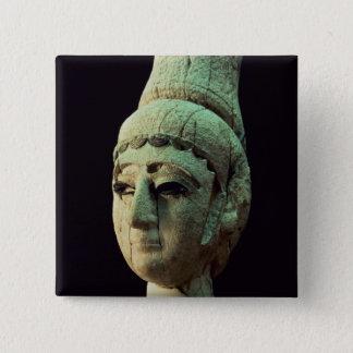 Huvud av en Prince eller en Princess av Ugarit (el Standard Kanpp Fyrkantig 5.1 Cm