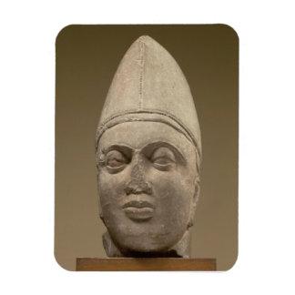Huvud av en Scythian, röd sandsten, 3rd århundrade Magnet