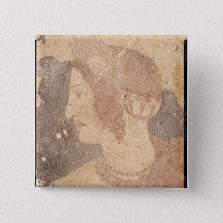 Huvud av en ung kvinna, Velia Standard Kanpp Fyrkantig 5.1 Cm