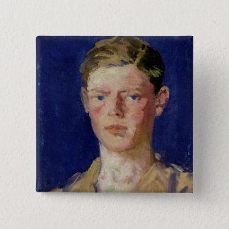 Huvud av en ung man standard kanpp fyrkantig 5.1 cm